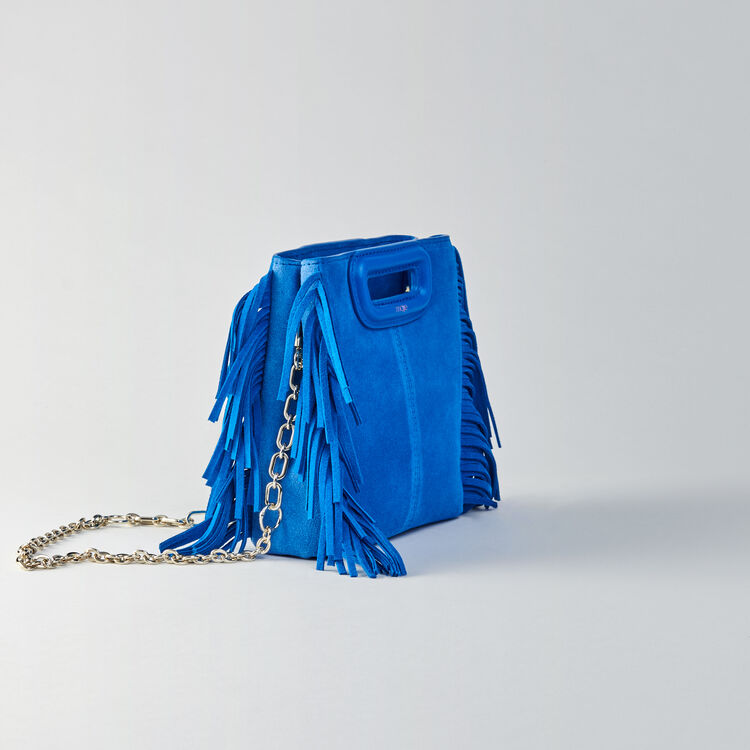 Mini two-toned suede M bag with chain : M Mini color Blue