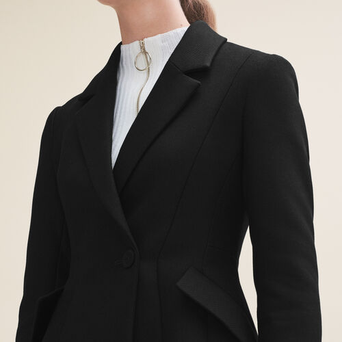 Structured jacket with peplum - Blazers - MAJE