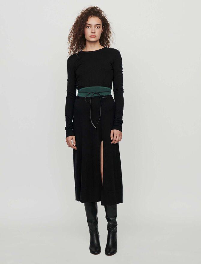 Split and reversible knit dress -  - MAJE