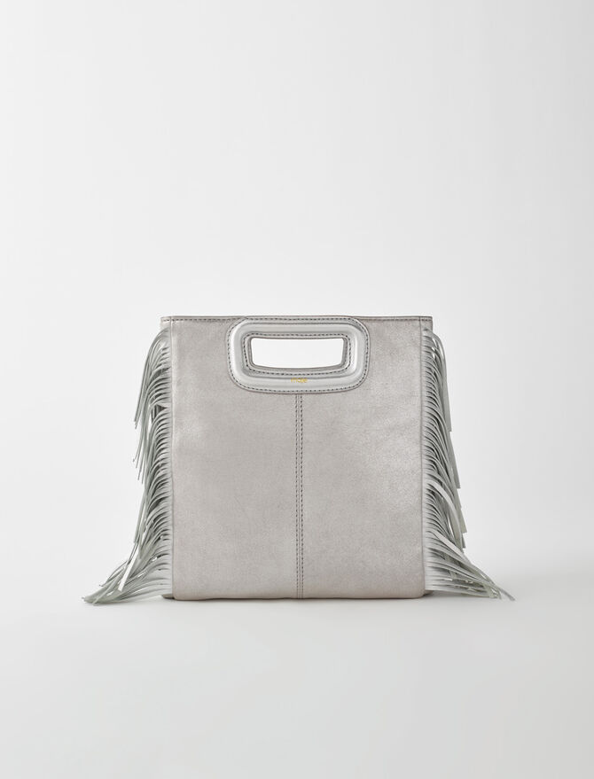 Silver leather M bag - See all - MAJE