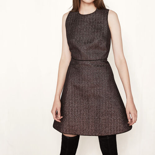 Lurex dress : Dresses color Black 210