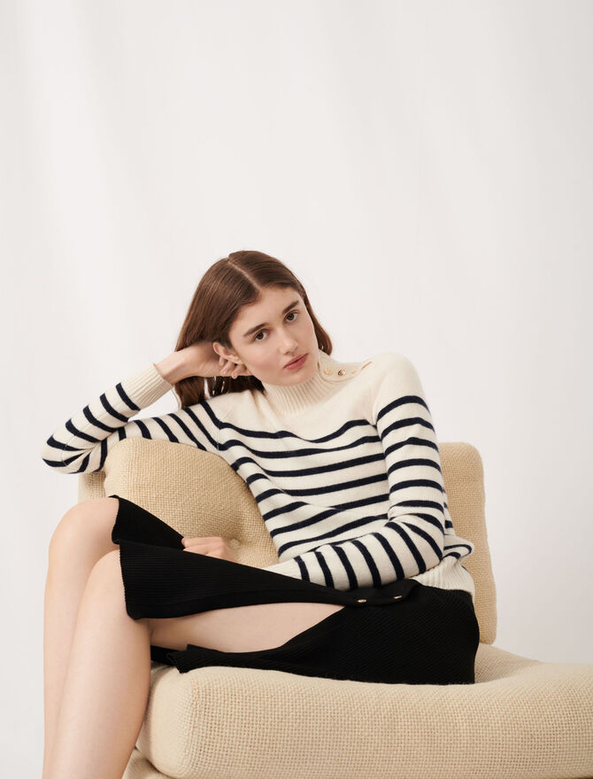 Cashmere sailor-style sweater - Pullovers & Cardigans - MAJE