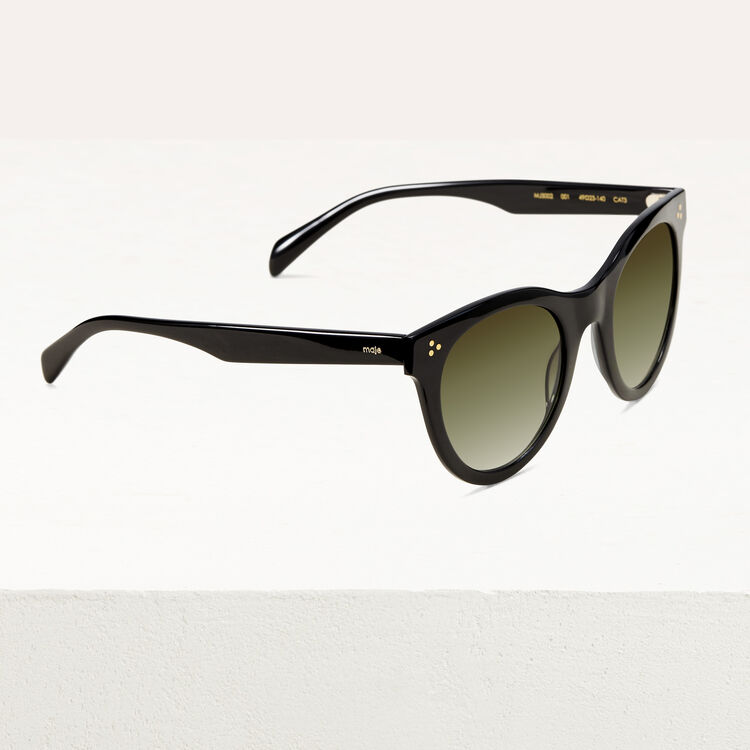Acetate sunglasses : Eyewear color Black