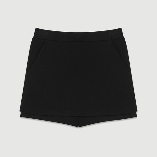 Crepe skort : Skirts & Shorts color Black 210
