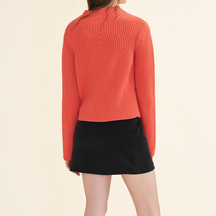 Chunky knit jumper : Sweaters & Cardigans color Orange