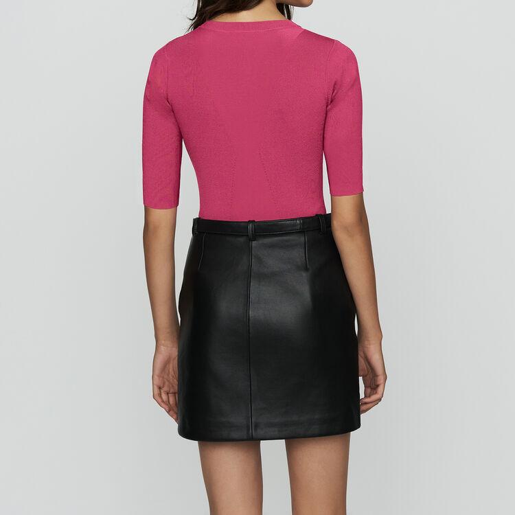 Musa Fine Knit Sweater With Short Sleeves Knitwear Majecom