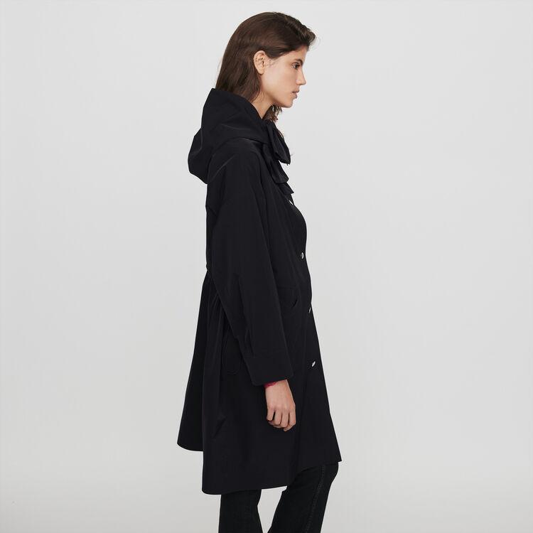 Hooded windbreaker-style parka : Coats & Jackets color Black