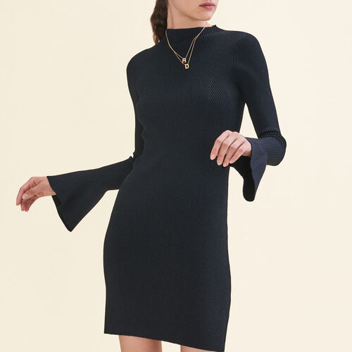 Lurex knit dress : Dresses color Black 210