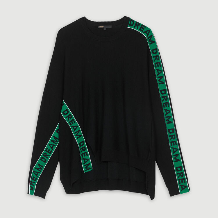 Oversize graphic sweater : Urban color Black 210