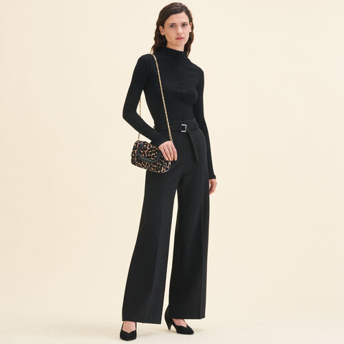 Wide high-waisted trousers - Trousers - MAJE