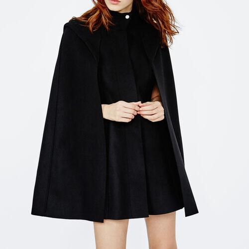 Wool cape coat : Coats color Black 210