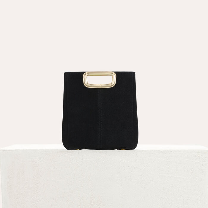 M Skin bag in suede : M Mini color Black 210
