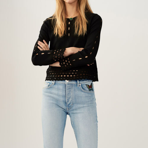 Jumper with openwork detail - Pre-collection - MAJE