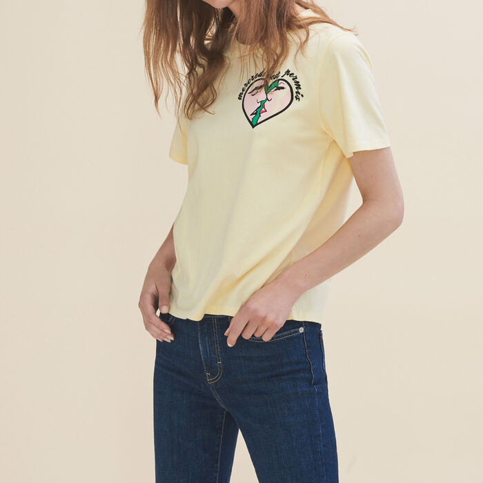 Embroidered T-shirt Wednesday - T-Shirts - MAJE