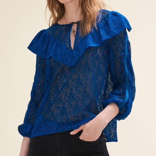 Lace top : Tops color Blue