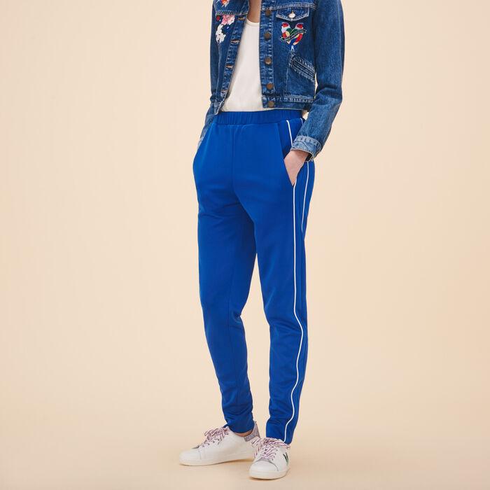 Sportswear-inspired trousers -  - MAJE