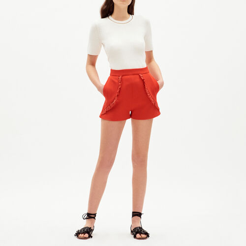 Short with details : Skirts & Shorts color Red