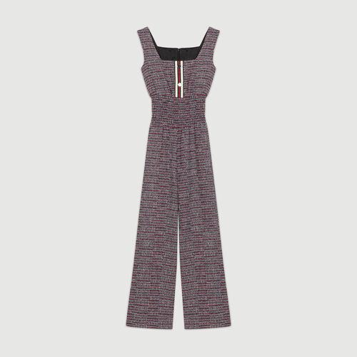 Tweed jumpsuit : Trousers color Jacquard
