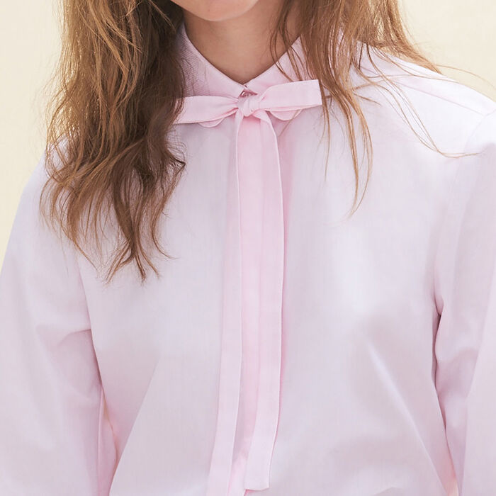 Loose-fitting poplin shirt -  - MAJE