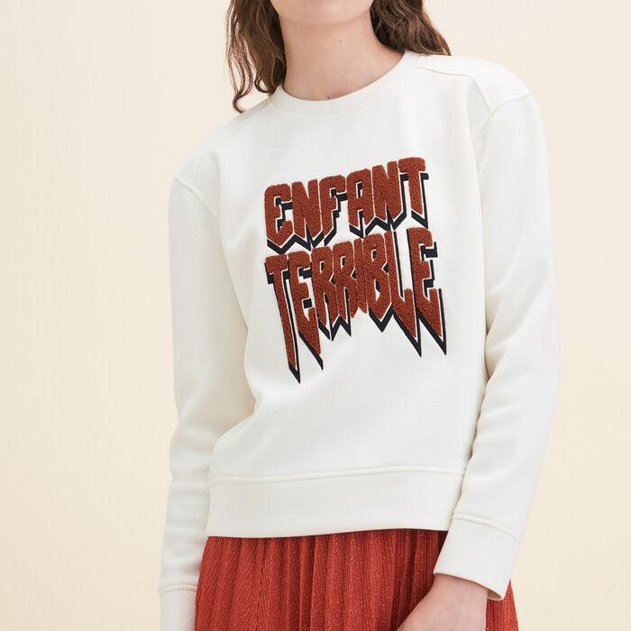 Neoprene Sweatshirt - Knitwear - MAJE