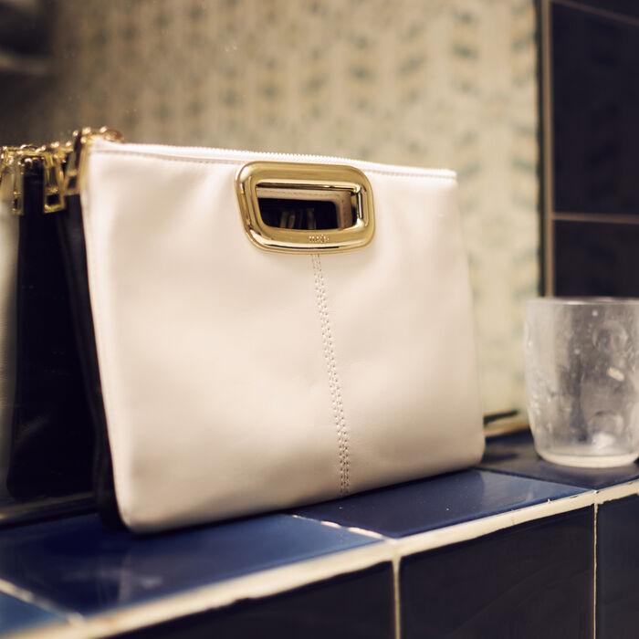 M Duo Skin purse in leather : M Skin color Black 210