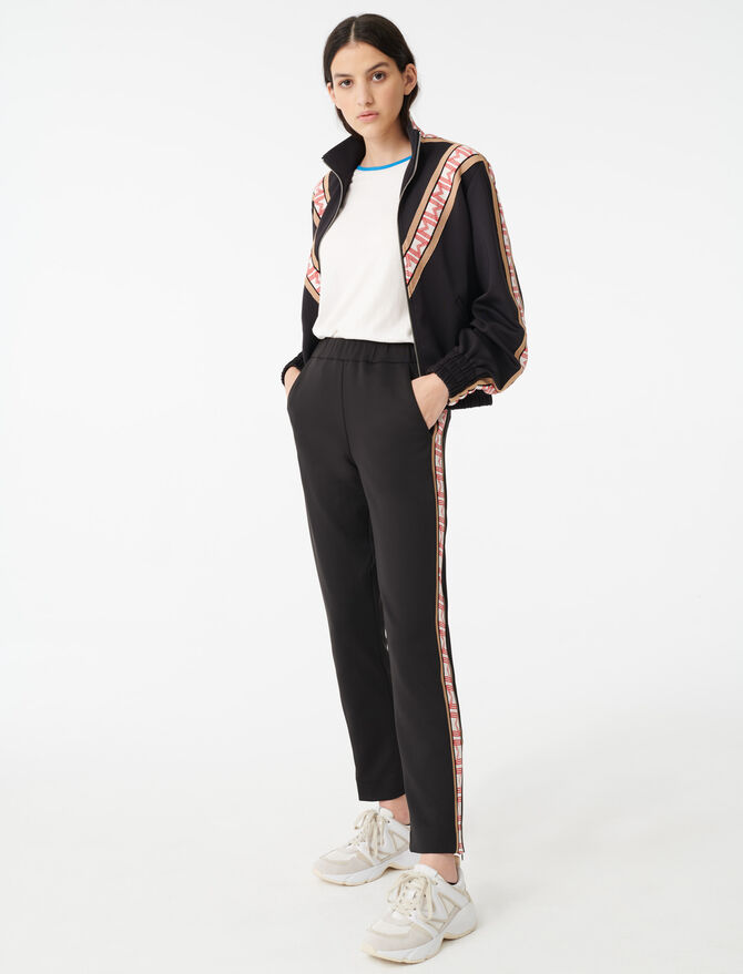 Tracksuit bottoms with bands - Trousers & Jeans - MAJE