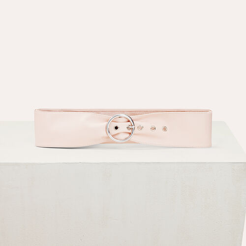 Wide leather belt : Accessoires color Pale Pink