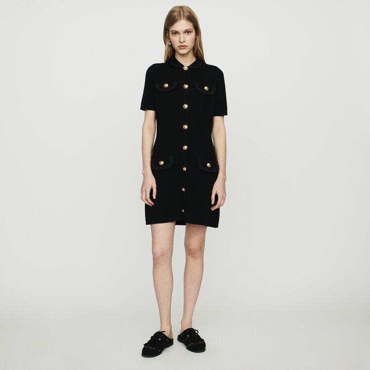 Knit dress : Dresses color Black 210