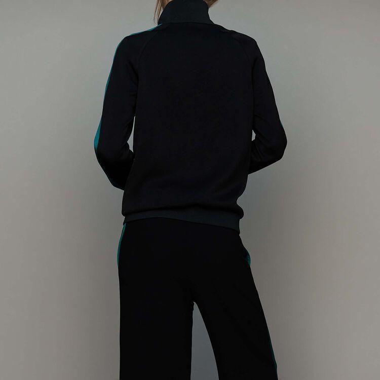 Bicolor athletic jacket : Blazers color Black 210
