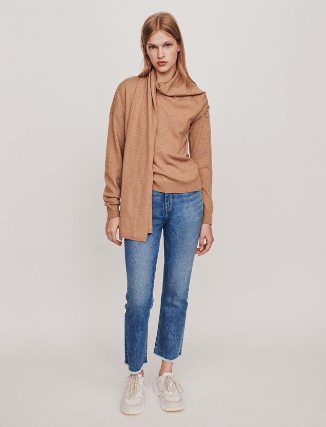Knotted crewneck sweater -  - MAJE