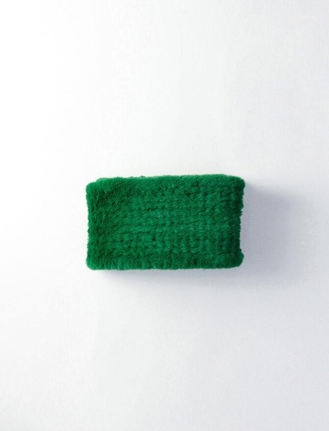Green fake fur scarf -  - MAJE