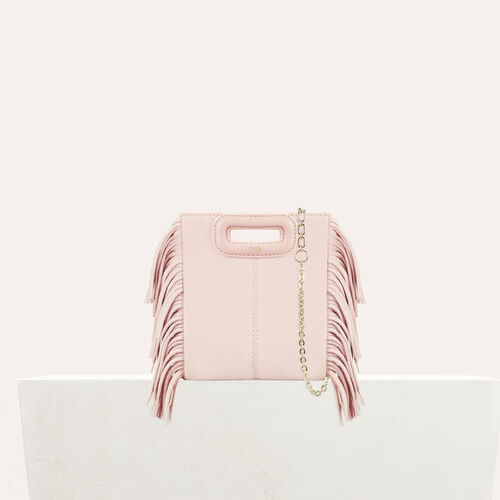 M mini-bag with chain : M bags color Nude
