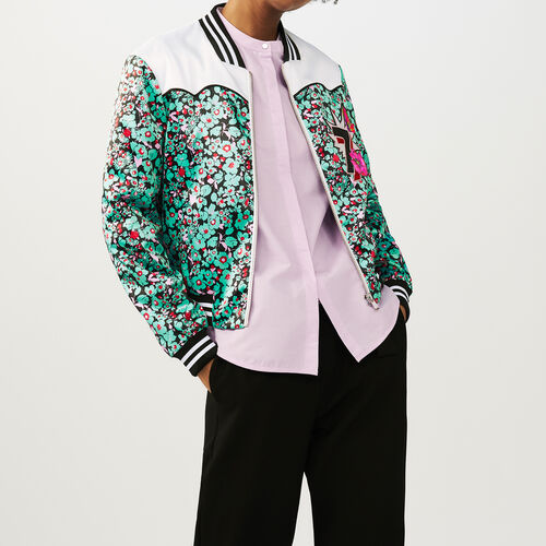 Multicolored bomber : Jackets color PRINTED
