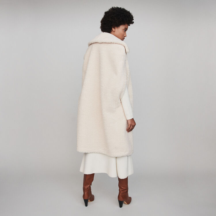 Faux fur cape coat : Coats & Jackets color Ecru
