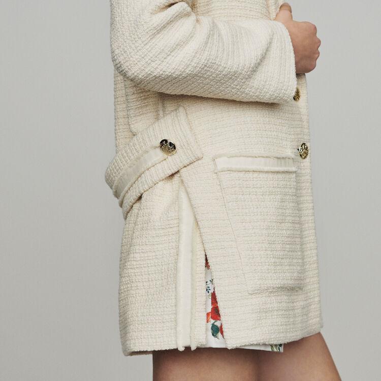 Tweed-style coat : Coats & Jackets color Ecru