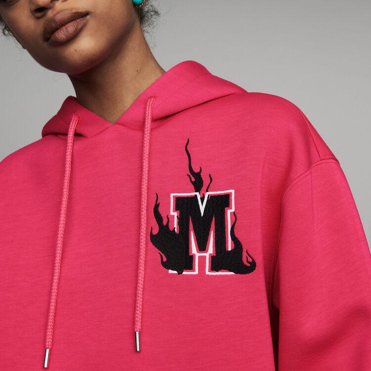 Oversize hooded sweatshirt : Urban color Fuschia
