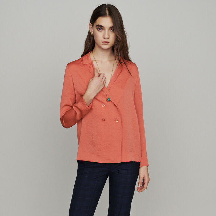 Blazer-style blouse : New in : Summer Collection color Coral