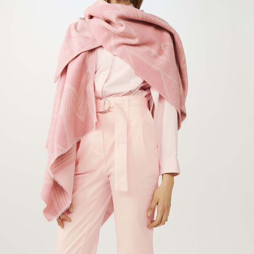 M print poncho : Shawls & Ponchos color Pink