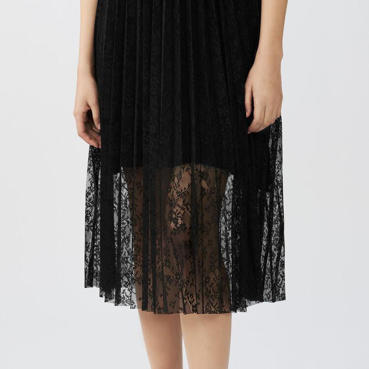 Sleeveless lace dress : Dresses color Black 210