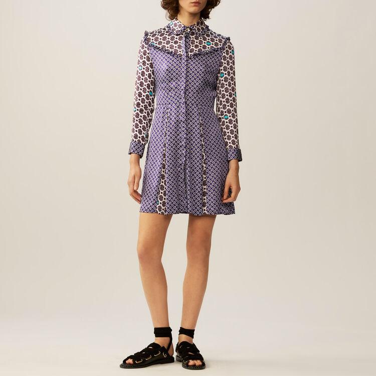 Printed satin dress : Dresses color PRINTED