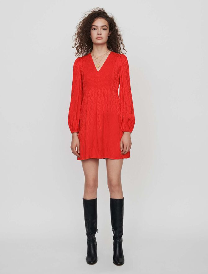 Jacquard satin smock dress - -30% - MAJE