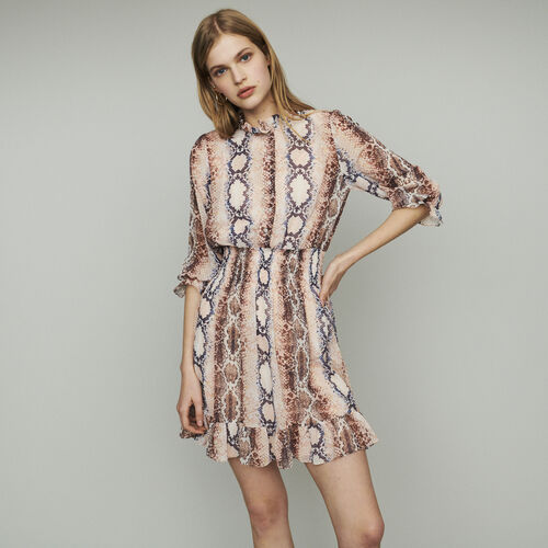 Short dress with python print : Dresses color Print