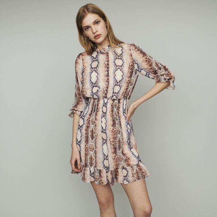 Short dress with python print : Dresses color Print