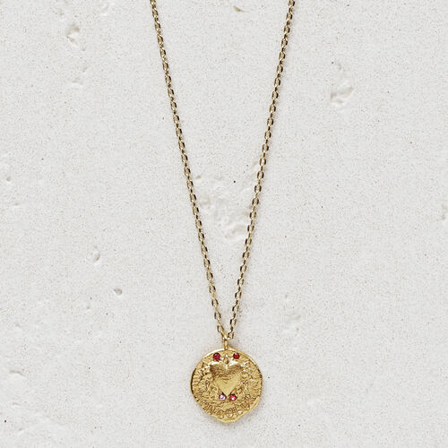 "Necklace ""Mon coeur"" in gold plated : Jewelry color GOLD"