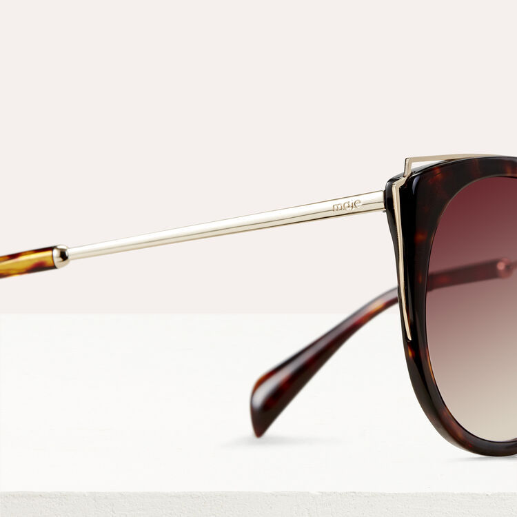 Metal and acetate sunglasses : Eyewear color ECAILLE