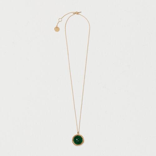 Number 5 medallion - Jewelry - MAJE