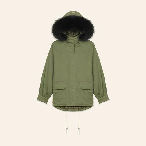 Parka with fur hood - Coats - MAJE