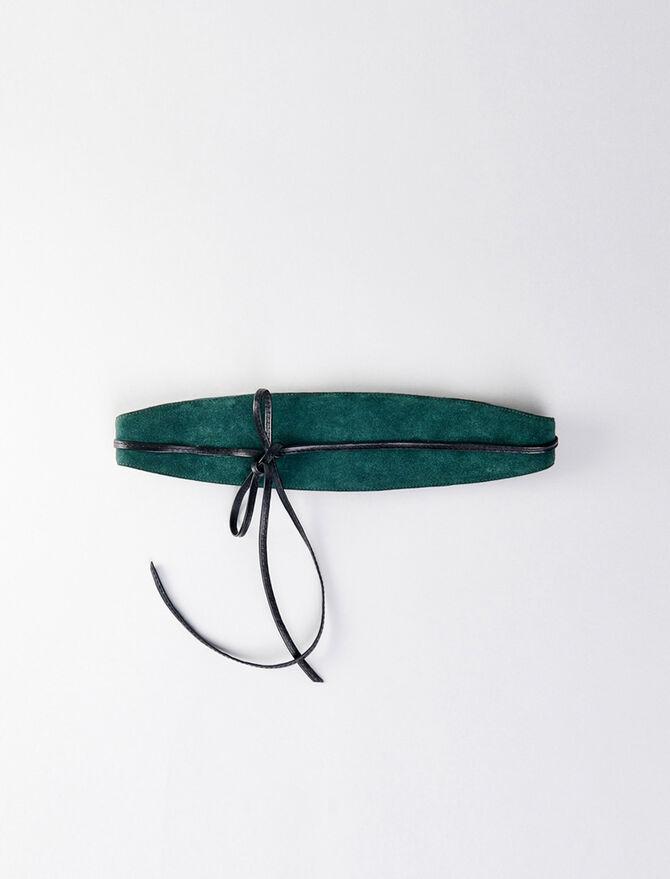 High-waisted suede belt - Belts - MAJE