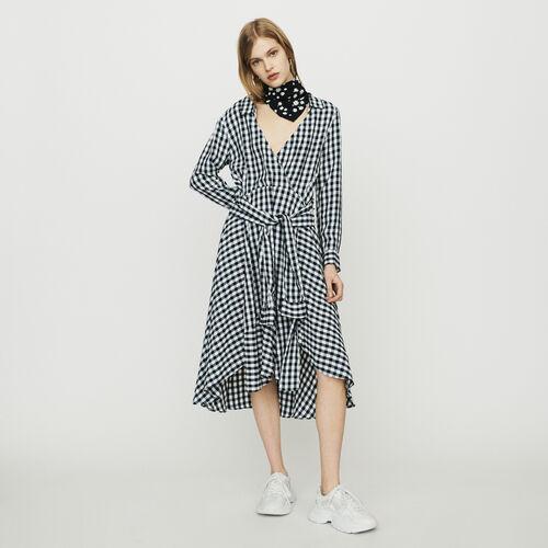 c3a7d626af Dresses true Midi shirt dress in vichy print   Dresses color CARREAUX