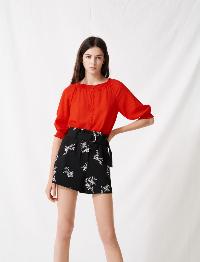 Smocked boat-neck top - All the collection - MAJE